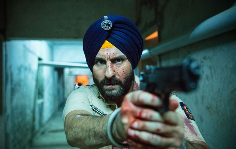 Saif Ali Khan as police inspector Sartaj Singh in the Netflix crime thriller Sacred Games