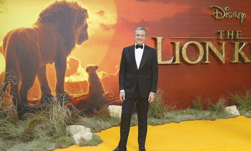 London: Disney CEO Robert Iger poses on  the red carpet upon arriving for the European premiere of the film The Lion King on  Sunday.—AFP