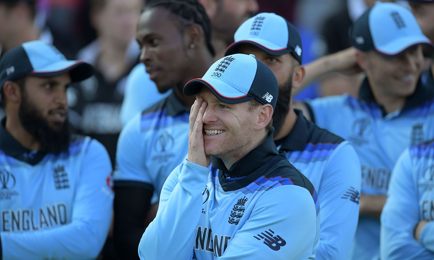 Eoin Morgan reacts to his team's win. — AFP