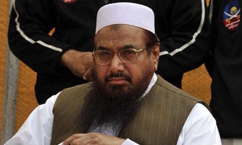 حافظ سعید نے اپنے خلاف مقدمات ختم کرنے کےلیے درخواست دائر کی تھی—فائل فوٹو: اے ایف پی