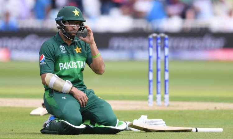 Imamul Haq during the World Cup game against India. — AFP/File