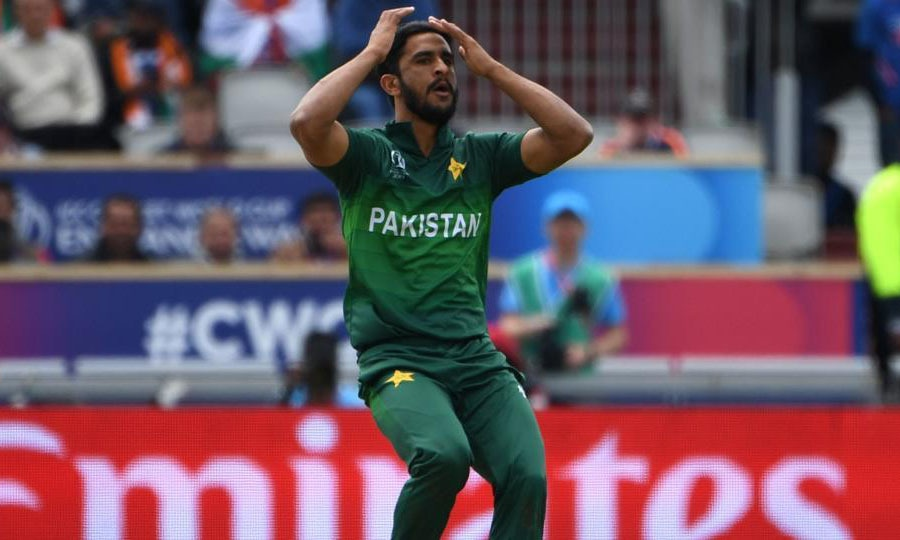 Hassan Ali in the Cricket World Cup 2019. — AFP/File
