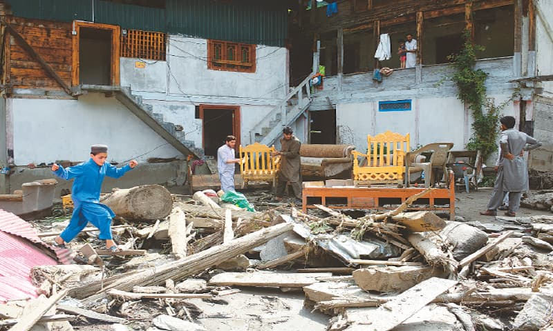 Flash floods wreak havoc on AJK village; 22 killed