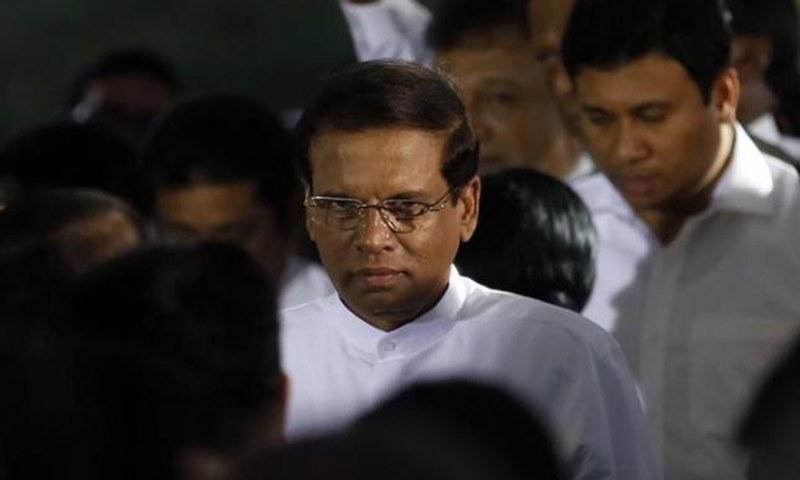 منشیات فروشوں نے یہ حملہ میری حکومت سے لوگوں کا اعتماد اٹھانے کے لیے کیا گیا، سری لنکن صدر— فائل فوٹو: ٹوئٹر