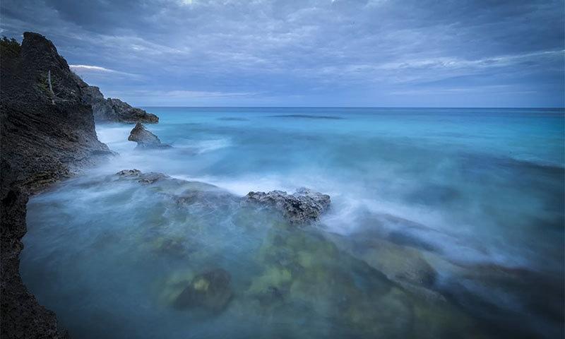 برمودا ٹرائی اینگل کے خطے کا ایک ساحل — شٹر اسٹاک فوٹو