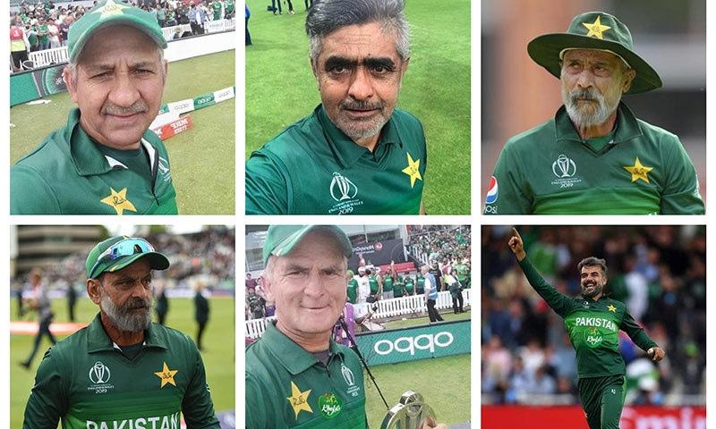 پاکستانی ٹیم کے کرکٹرز کی ایپ سے بنائی گئی تصاویر— فوٹو: بشکریہ ٹوئٹر