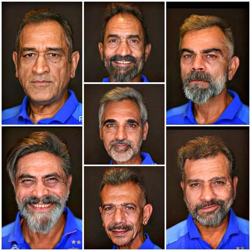 بھارتی ٹیم کے کھلاڑیوں کی ایپ سے بنائی گئی تصاویر بھی بہت مقبول ہو رہی ہیں— تصاویر بشکریہ ٹوئٹر