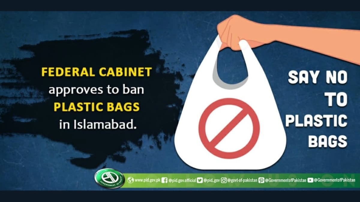 The federal government has already announced a complete ban on stocking, selling and buying of plastic bags in Islamabad after August 14 this year.
