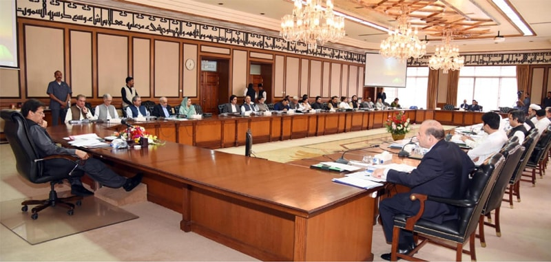 ISLAMABAD: Prime Minister Imran Khan chairs a meeting of the federal cabinet at PM Office on Tuesday.—APP