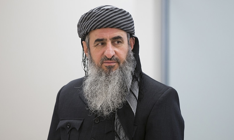This June 13, 2016 file photo shows Najmuddin Ahmad Faraj, better known as Mullah Krekar, at Oslo District Court in Oslo, Norway. —  NTB Scanpix via AP