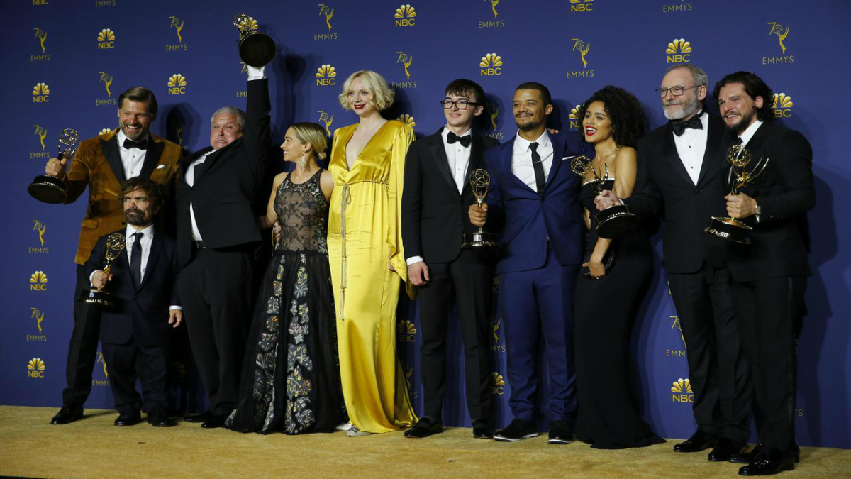 The cast at last year's Emmy Awards