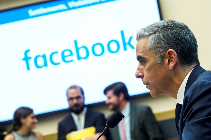 WASHINGTON: Facebook executive David Marcus testifies to the House Financial Services Committee hearing on Wednesday.