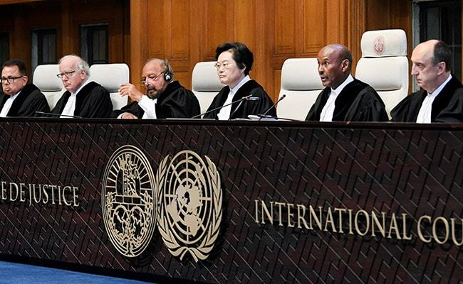 Judges are seen at the International Court of Justice during the final hearing in the Kulbhushan Jadhav case in The Hague, the Netherlands, on  February 17. — Reuters