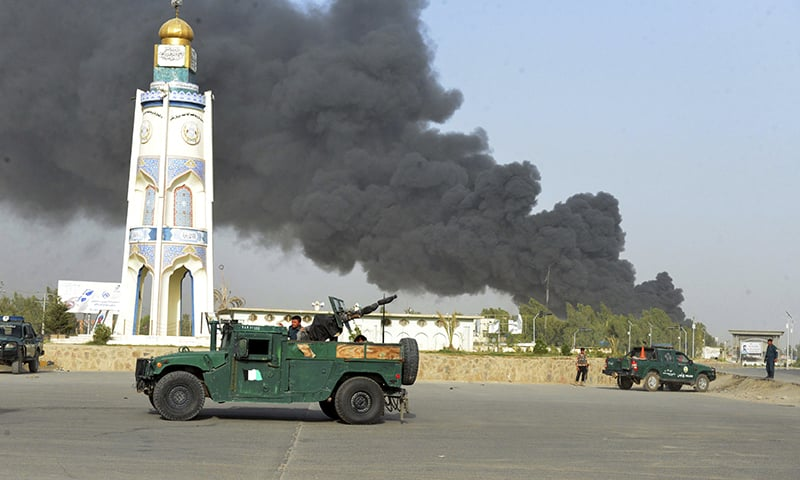 12 dead in Taliban attack on police headquarters
