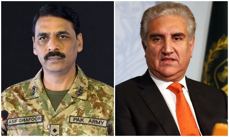 The foreign minister speaks to the media on Friday while the ISPR DG follows with a separate briefing on Saturday, says a Pakistan Embassy press release. — Photos courtesy ISPR, PID