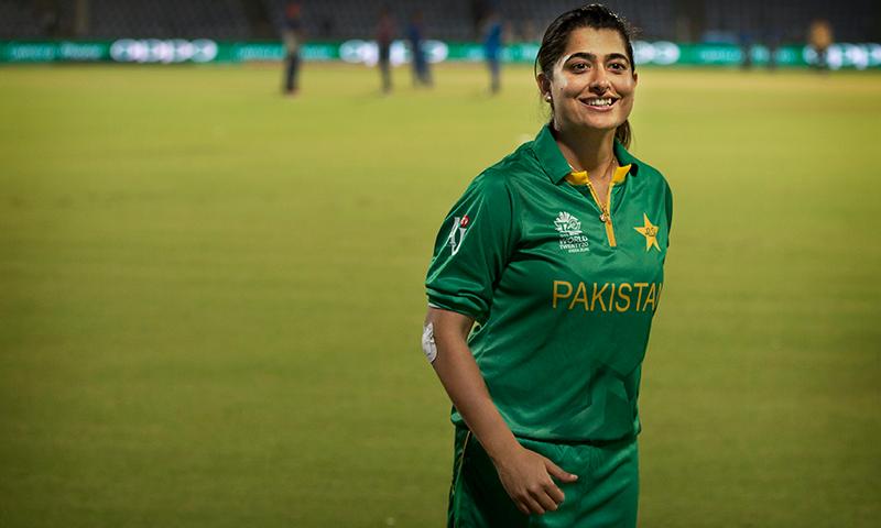 Pakistan women's cricket star Sana Mir. — AP