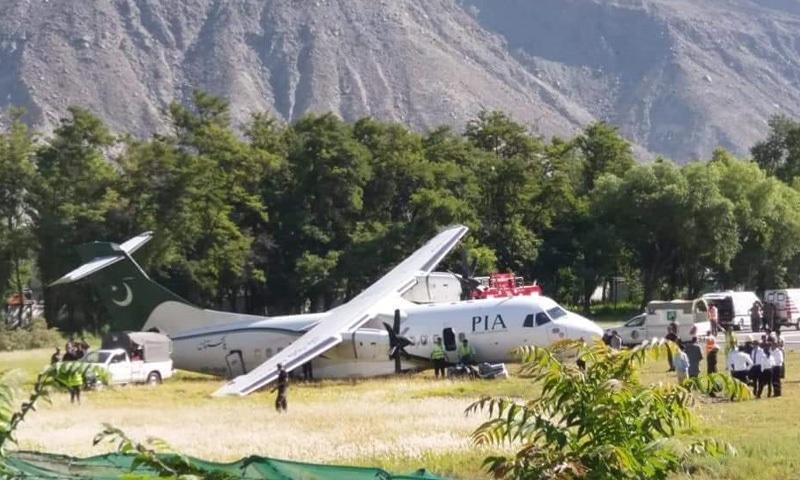 طیارہ کو پیش آںے والے حادثے میں جانی نقصان نہیں ہوا—فوٹو: ٹوئٹر
