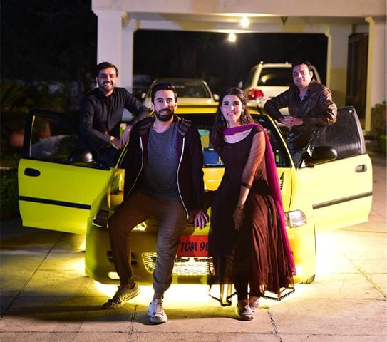 Producer Imran Raza Kazmi, Ali Rehman Khan, Hareem Farooq and director Azfar Jafri