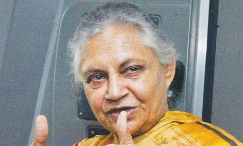 Veteran Indian politician Sheila Dikshit, New Delhi's longest-serving chief minister, died on Saturday after a prolonged illness. She was 81. — AP