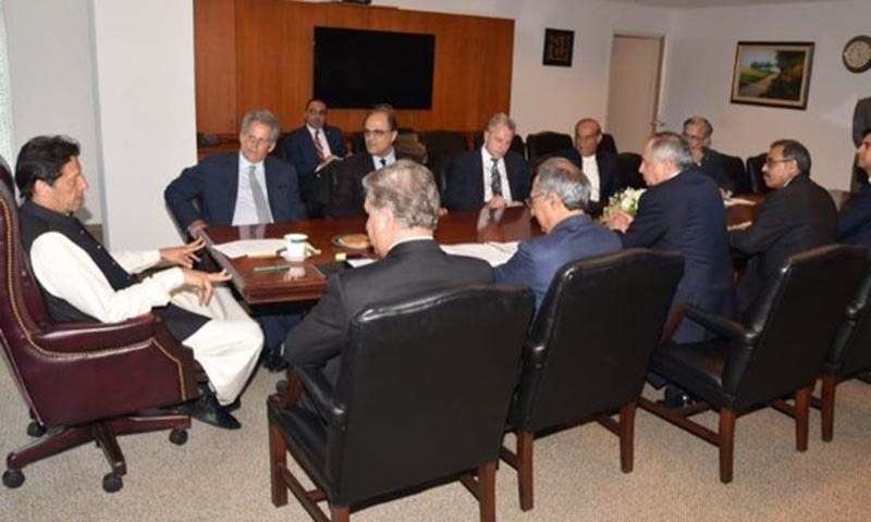 Prime Minister Imran Khan met with the acting director of the IMF David Lipton on Sunday. — Photo courtesy David Lipton Twitter