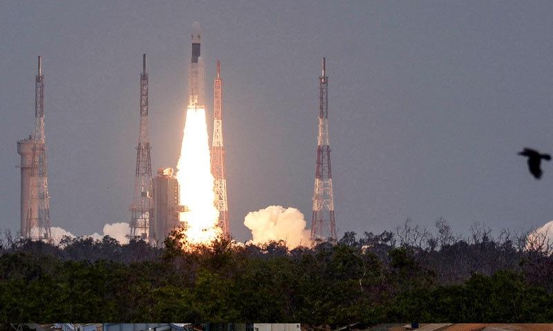 چاند مشن کو ریاست آندھرا پردیش سے خلا میں بھیجا گیا—فوٹو: اسرو