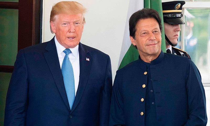 وزیر اعظم عمران خان اور ٹرمپ کے درمیان یہ پہلی ملاقات ہے—فوٹو:اے ایف پی