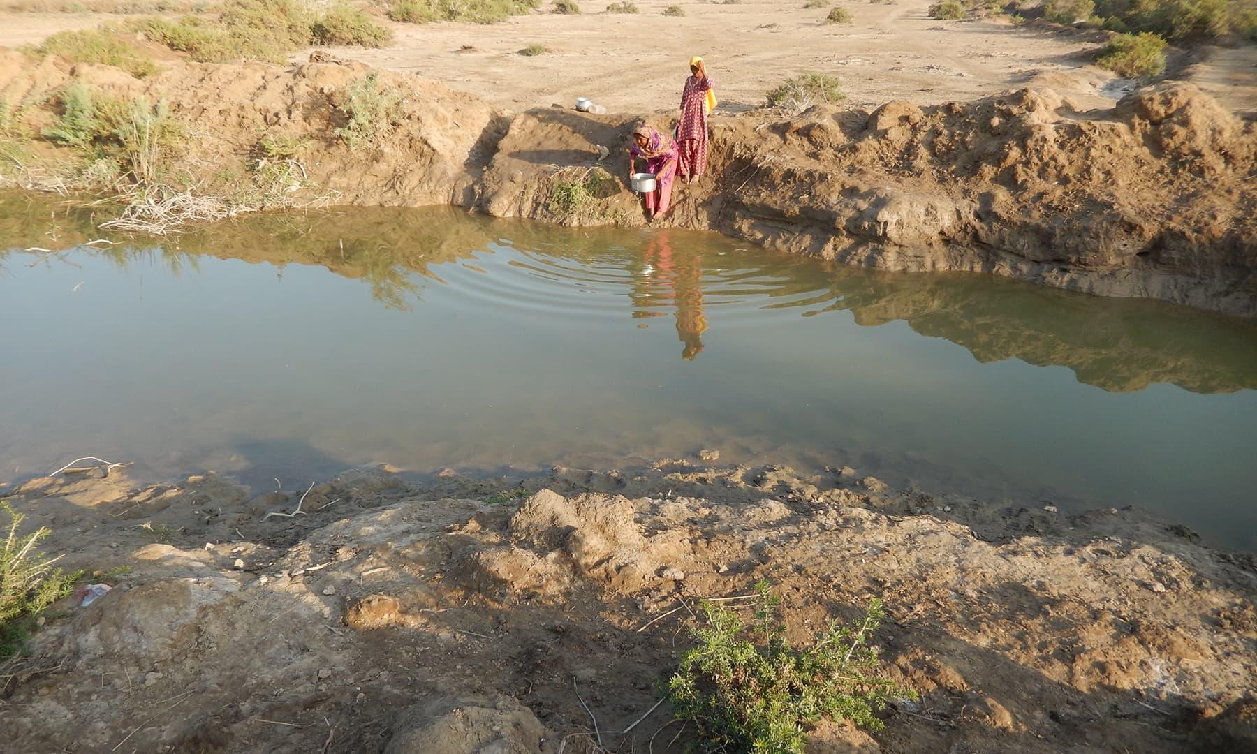 ساحلی پٹی کا ایک گاؤں—تصویر ابوبکر شیخ