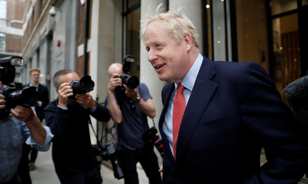 Boris Johnson, leadership candidate for Britain's Conservative Prime Minister, leaves a hustings event in London, Britain, June 21. — Reuters
