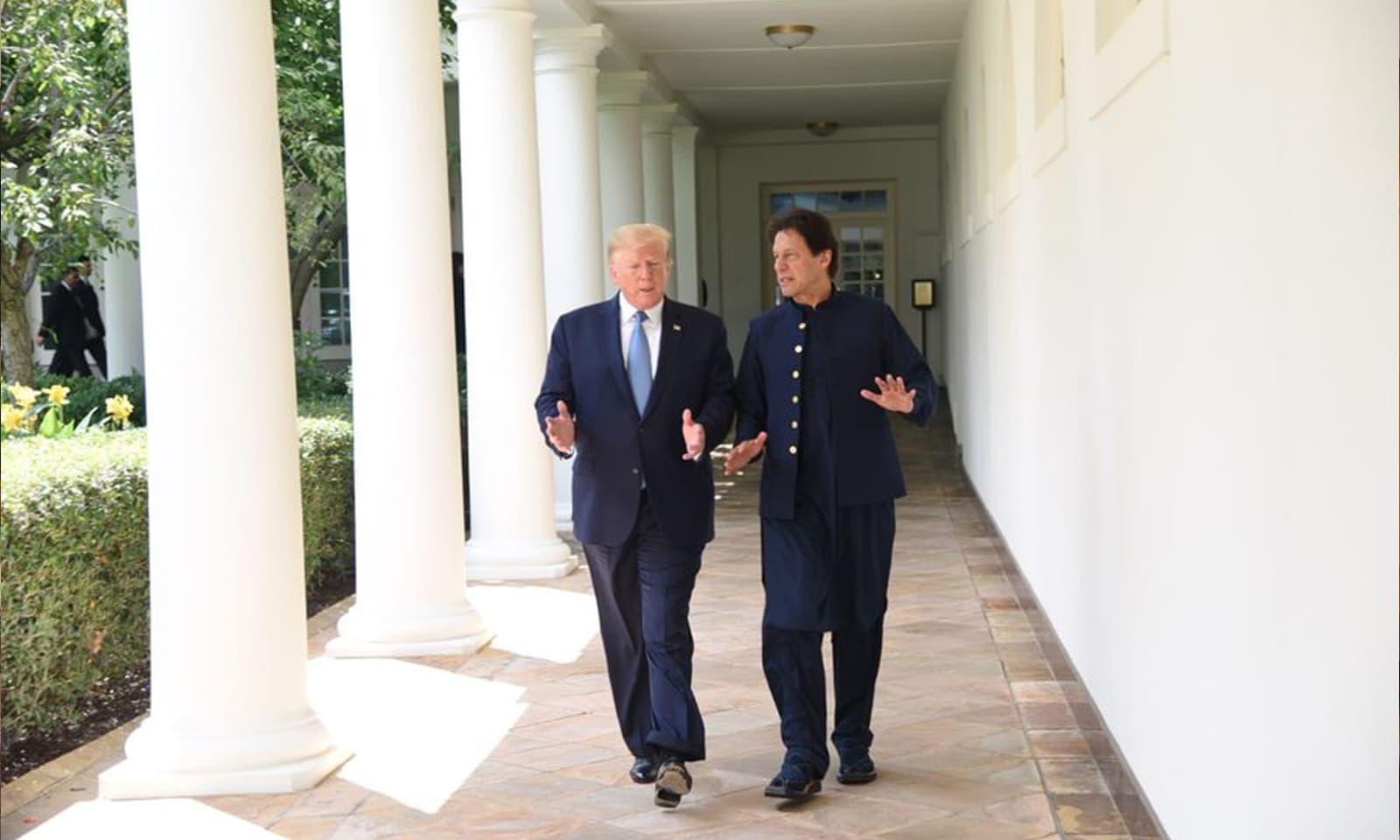 وزیراعظم عمران خان امریکا کے 3 روزہ سرکاری دورے پر ہیں — فوٹو : بشکریہ ٹوئٹر