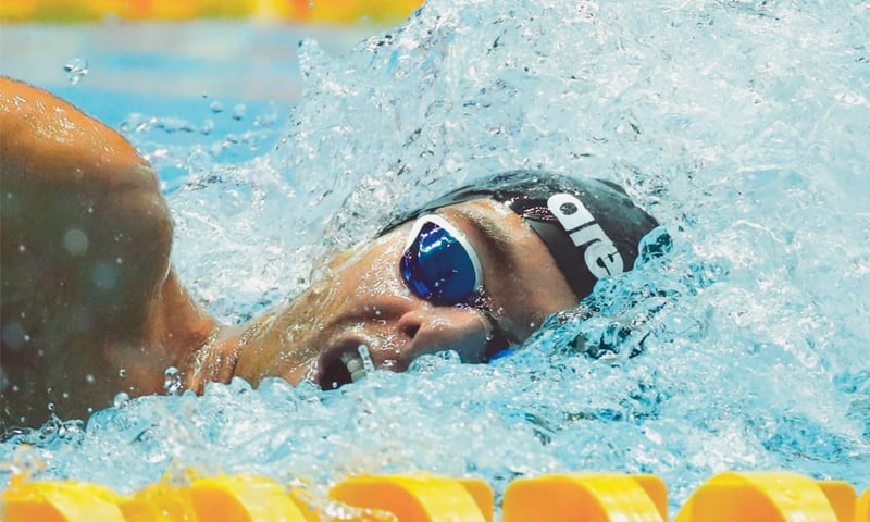GREGORIO Paltrinieri of Italy competes on his way to winning the men's 800m freestyle final at the Nambu University Municipal Aquatics Center on Wednesday. — Reuters