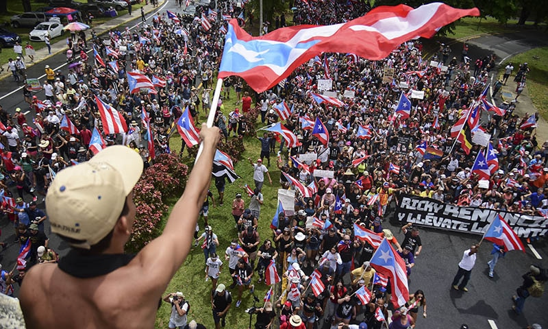 Pride and unity highlight emotions during rally for Puerto Rico