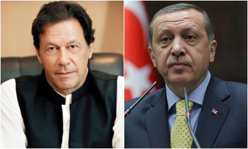 Prime Minister Imran Khan (L) and Turkish President Recep Tayyip Erdogan. — PM Office/File