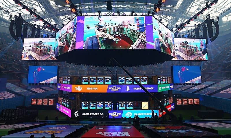 A general view of the Fortnite World Cup Finals during Round One on July 26 in New York City.  — AFP