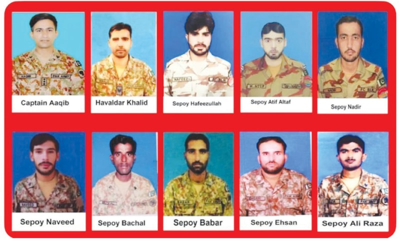 Captain among 10 troops martyred in two attacks - Newspaper