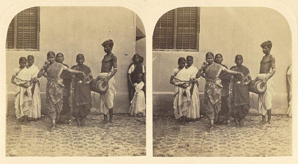 'Hindu Dancing Girls'. Image credit: Allan Newton Scott/Wikimedia Commons [Licensed under CC BY Public Domain Mark 1.0].