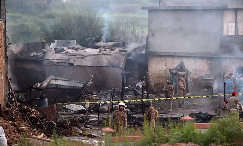 According to an Inter-Services Public Relations (ISPR) press release issued on Tuesday, rescue teams of the Pakistan Army and Rescue 1122 had reached the site of the incident and a fire had been extinguished. — AFP