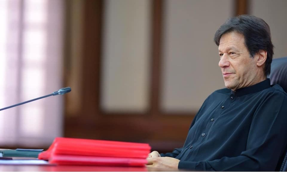 "During a recent visit to the United States, Prime Minister Imran Khan had said that talking about curbs on press freedom in Pakistan was a ""joke"".  — Photo courtesy Imran Khan/Facebook"
