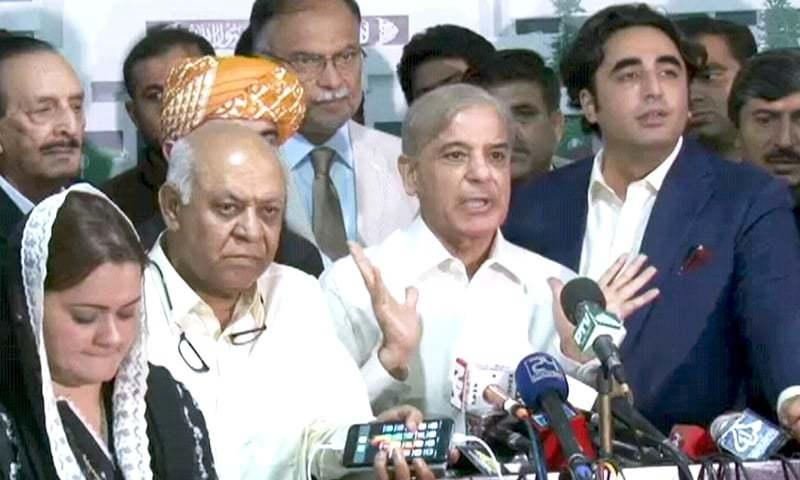 تحریک عدم اعتماد کی ووٹنگ کے دوران ضمیر فروشی ہوئی ہے، شہبازشریف   — فوٹو: ڈان نیوز