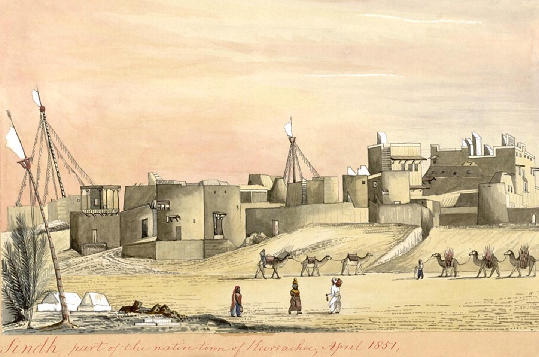 1851ء میں کراچی کا ایک ساحل