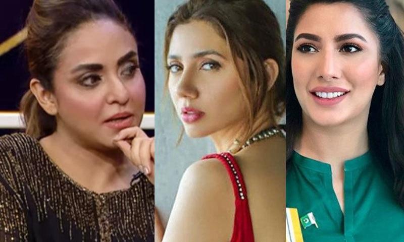 ماہرہ اور مہوش کو اداکاری کی فہرست میں شامل ہی نہیں ہونا چاہیے، نادیہ خان—فوٹو: فیس بک/ انسٹاگرام/ اسکرین شاٹ/ یوٹیوب