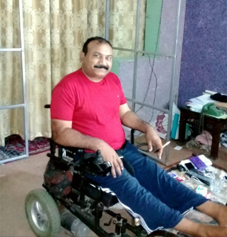Israr Ahmed, a cameraman, is paralysed for life