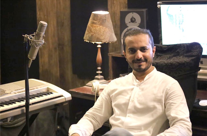 Junaid Attre at his studio