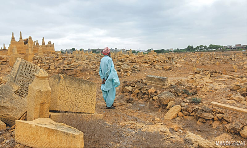 The graveyard caretaker stands among the dilapidated graves that are often vandalised by influential people