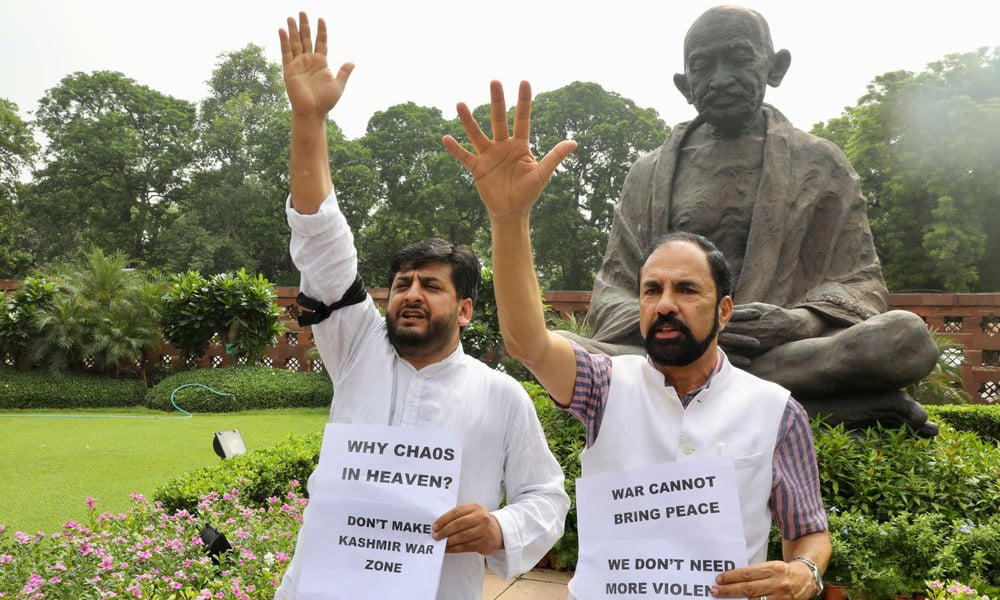 'Day of shame': Indian opposition slams BJP move to revoke occupied Kashmir's special status