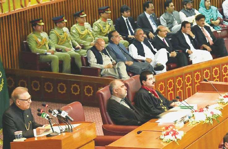 Joint session may pass resolution condemning India's decision to revoke occupied Kashmir's special status. — Dawn/File