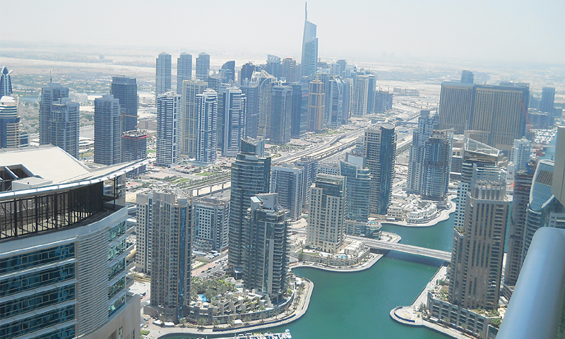 The Middle East financial hub's real estate market has steadily contracted since mid-2014. — AFP/File