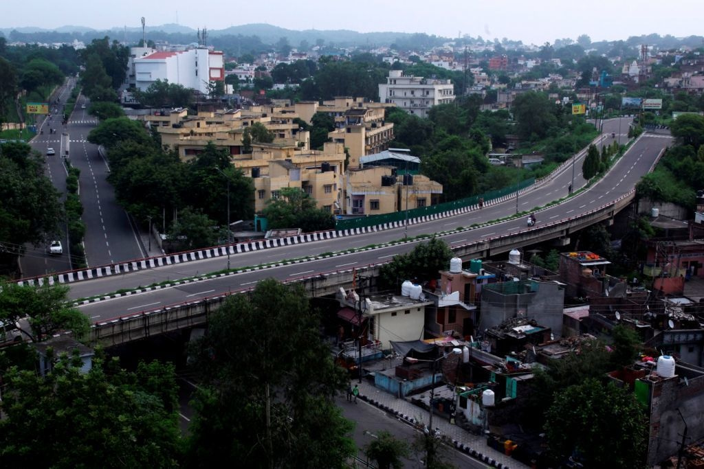 A deserted street is pictured in Jammu on August 6, 2019 — AFP