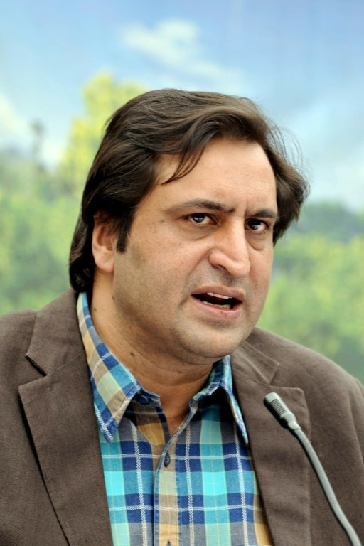 J&K People's Conference leader Sajjad Lone was also detained. — AFP