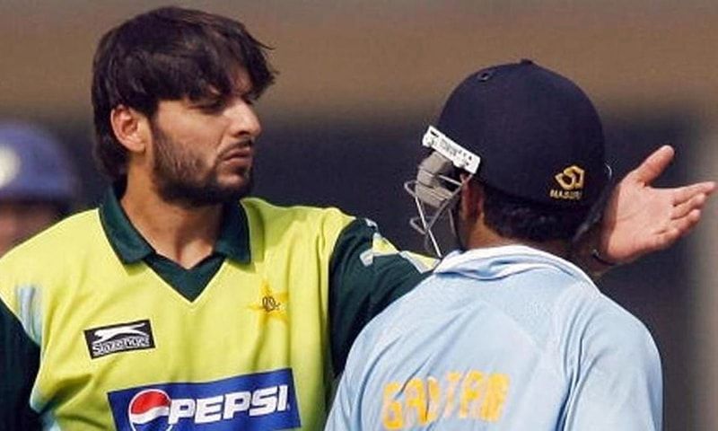 A file photo of former Pakistan captain Shahid Afridi and Indian ex-cricketer Gautam Gambhir. — AFP/File