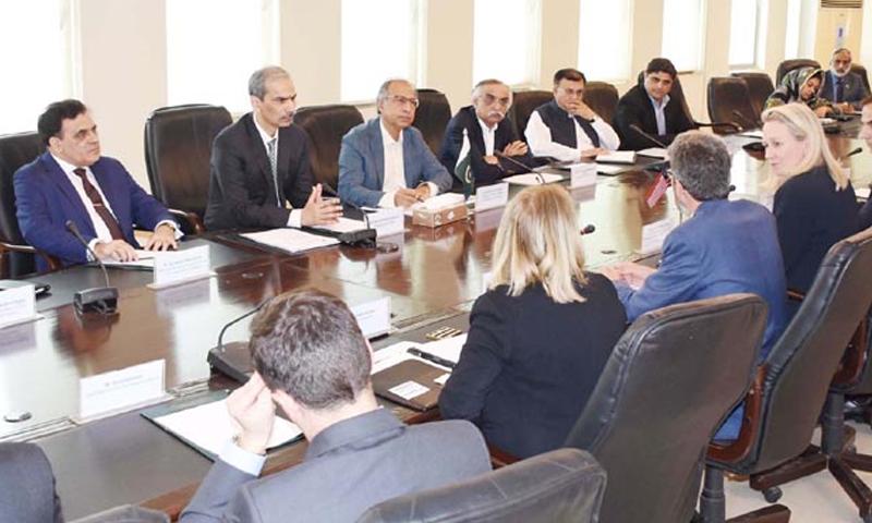 ڈاکٹر حفیظ شیخ نے کہا کہ دونوں ممالک کے نجی شعبوں کی حوصلہ افزائی کرنے کی ضرورت ہے—فوٹو: ریڈیو پاکستان